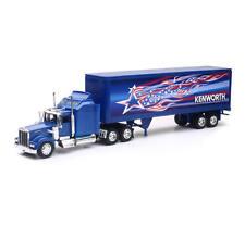 Kenworth W900 Patriotic Semi Truck & Trailer 1/32 Scale By Newray 12323