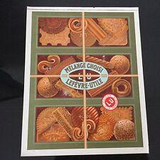 Etiquette LU Ancien Boîte Lefèvre Utile Biscuit Mélange Choisi 1930 29x23 cm