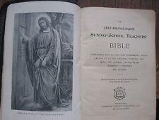 1895 The Self Pronouncing Sunday School Teachers' Bible w/colored MAPS RARE