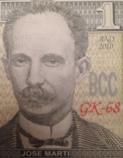JOSE MARTI 2010 ONE PESO UNCIRCULATED BANKNOTE FAST DELIVERY FROM A USA SELLER !