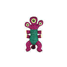KONG Woozles Pink and Green Alien Dog Toy (Medium)