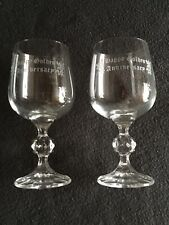GOLDEN WEDDING ANNIVERSARY GLASS GOBLETS