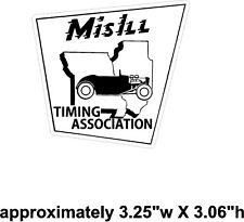 Mo-Ili Timing Association Window decal sticker NHRA Rat Rod Street Rod Hot Rod