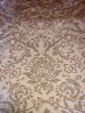 Beatiful Fleece Throw/ Blanket In Cream/ Stone Colour With Baroque Style Pattern