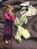 1970s Mattel Rock Flower HEATHER Doll & Clothes LOT Vintage Dawn Mod Style