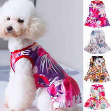 Pet Clothes Flower Print Cute Princess Dog Dress Puppy Chihuahua Cat Vest Skirt