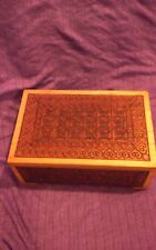 Hand-carved Wooden Box From Poland 6x4