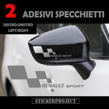 Adesivi RENAULT SPORT SPECCHIETTO SILVER Mirror Stickers Clio Megane Scenic x2