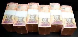 2018 Venezuela $50 Bolivares UNC 6 Bricks 6000 Pcs New Uncirculated SKU037