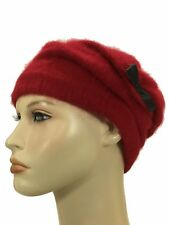 Laulhere Angora Soft Beanie Style Hat Juvenie Red Made In France 7  7 1/8