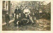 C-1910 Family Group Music Concertenia RPPC Photo Postcard 12965