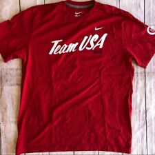 Nike TEAM USA London Olympics 2012 Mens Large T-shirt Cotton Excellent Condition