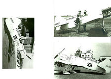 SET OF 3 - #21  B&W 4X6 PHOTOGRAPHS - RACING MISS CHEVROLET AIRPLANES & AVIATION