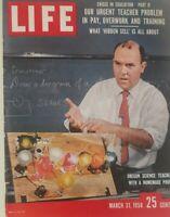 LIFE MAGAZINE MARCH 31 1958, CRISIS IN EDUCATION,OUR URGENT TEACHER PROBLEM.