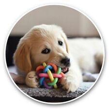 2 x Vinyl Stickers 30cm - Golden Retriever Labrador Puppy Dog  #45176