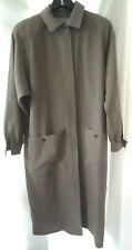 PRINCIPLES Long Beige Trench Coat Vintage *UK16 Wool Blend Made in Cyprus