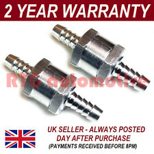 "2 X 6MM 1/4"" ONE WAY ALUMINIUM NON RETURN CHECK VALVE PETROL DIESEL OIL WATER"