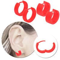 2 Stück Creolen Ohrstecker Ohrringe Klappcreolen Acryl Kunststoff Damen Rosa