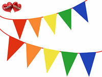 Intense Rainbow Bunting Banner coloured Stylish party decoration by PARTY DECOR