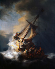 The Storm On The Sea Of Galilee by Rembrandt, Handmade Oil Painting Reproduction