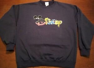 Vintage Disney Sweatshirt, Navy Blue, Size Large, From The Disney Store