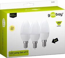 3x LED Glühlampe E14 250 Lumen 3W warmweiß = 25W Glühbirne Kerze SMD Lampe Birne