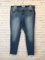 Torrid Womens Size 16 R Distressed Medium Wash Stretch Boyfriend Denim Jeans