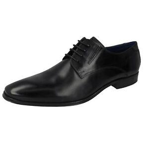 Hommes Bugatti Cuir Noir à Lacets Chaussures Habillées 312-42002
