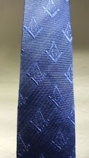 MASONIC BLUE NECKTIE WITH SQUARE AND COMPASS