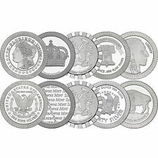 Mixed Design Stackables 1oz .999 Silver Medallion 10pc