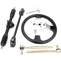 110cc Go Kart 300mm Steering Wheel 320mm Assembly Steel Gear Rack Pinion D ST