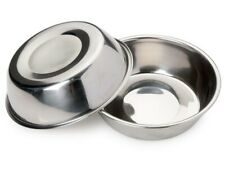 "(2 Pk)Stainless Steel Standard Dog Food or Water Bowl Dish 52.41oz /8"" Diameter."