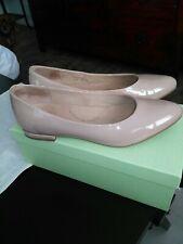 Wide Fit Ziera Ladies Opera Flat Court Shoe Nude Patent Size 40 BNIB