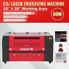 Omtech 60w Ruida Co2 Laser Engraver Cutter With 28x20 Workbed Red Amp Black