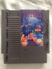 Thor Aackerlund 1990 Nintendo World Champion Signed Original NES Tetris Cart !