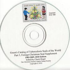 Green's Catalog, TB Seals, Part 3, Foreign TB Seals, 2007 Supplement CD