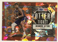 Deandre Ayton RC 2018-19 Contenders Optic Lottery Ticket Red Cracked Ice ROOKIE