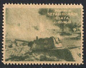 TANK Battle Stalingrad HUNGARY movie cinema CCCP Russia WAR WW2 LABEL CINDERELLA