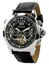 "Calvaneo Magnificent ""Astonia Shiny Black"" Diamonds hour dream Automatic watch"
