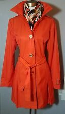 MICHAEL KORS Size Large Belted Detachable-Hood Trench Coat