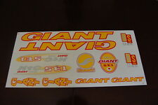 Giant Stickers Yellow, Red & Silver. XTC SE1