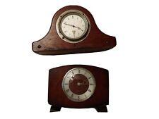 New ListingVintage Antique Smiths Clocks Great Britain Wood Frame Shelf/Mantle Clocks