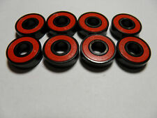 8 x ABEC 7 SCOOTER BEARINGS *NEW* RED SHIELDS