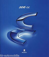 Peugeot 206 CC Prospekt D 12/00 brochure 2000 Auto PKWs Frankreich Autoprospekt