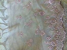 "4 yds NUDE vintage  flower  lace  No7   size 7 """
