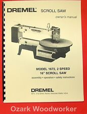 Dremel Model 1672 16 Scroll Saw Owners Amp Parts Manual 0282