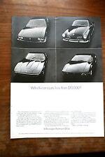 Pub Ad 1968 Car Auto volkswagen Karmann Ghia