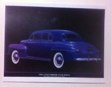 """1942 Ford Fordor Club Sedan"" Illustration 8x10 Reprint Garage Decor"