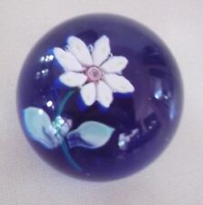 Antique/Vintage Unusual 8 Petal Floral Daisy Sandwiched Glass Paperweight