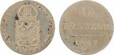 Autriche, 6 kreuzer, révolution, 1849 C, argent - 67